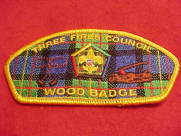 THREE FIRES C. SA-83, WOOD BADGE