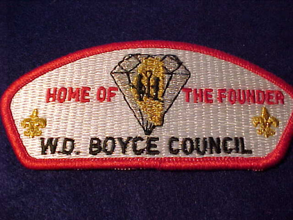 W. D. BOYCE C. SA-6, HOME OF THE FOUNDER, DIAMOND JUBILEE