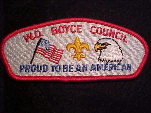 W. D. BOYCE C. SA-23, PROUD TO BE AN AMERICAN