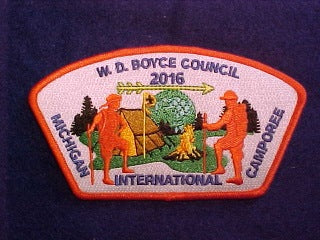2016 MICHIGAN INTERNATIONAL CAMPOREE, 138 W.D. BOYCE COUNCIL, SA