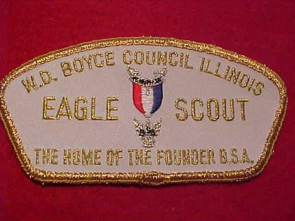 W. D. BOYCE C. TA-10, EAGLE SCOUT, THE HOME OF THE FOUNDER B.S.A.