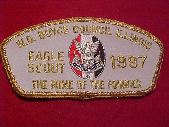 W. D. BOYCE C. TA-8, EAGLE SCOUT, 1997, THE HOME OF THE FOUNDER