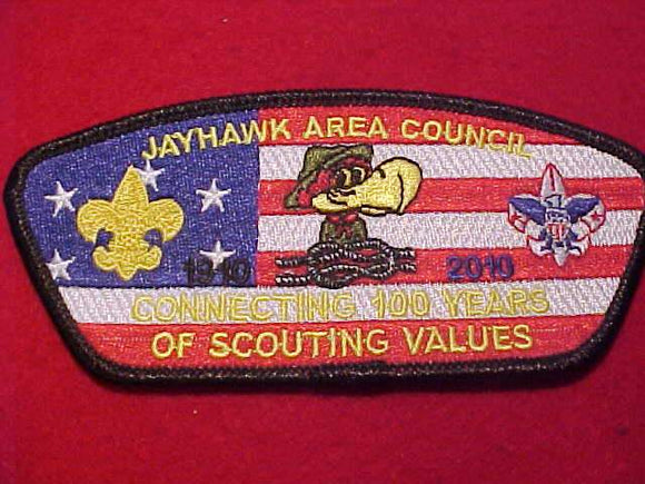 JAYHAWK AREA C. S-26, 2010, CONNECTING 100 YEARS OF SCOUTING VALUES