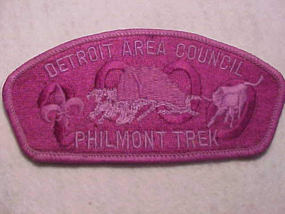 DETROIT AREA C. SA-50, 2000 PHILMONT TREK, PURPLE GHOST