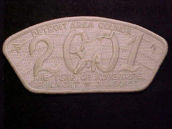 DETROIT AREA C. SA-54, 2001, THE YEAR OF ADVENTURE, PHILMONT JAMBOREE, WHITE GHOST