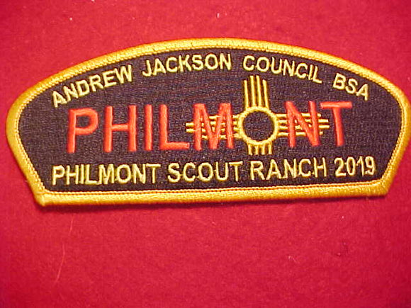 ANDREW JACKSON C. SA-?, PHILMONT SCOUT RANCH 2019