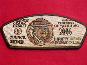 "OZARK TRAILS C. SA-27, 2006, ""THRIFTY"", ONE HUNDRED DOLLAR"