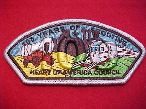 Heart of America sa12, 100 years, silver bdr.