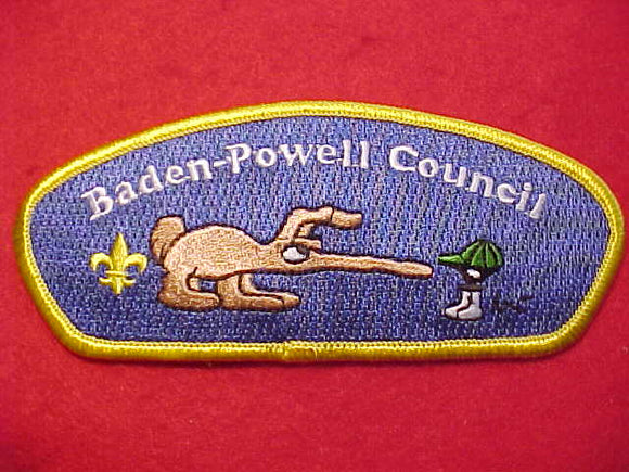 BADEN-POWELL C. SA-23, BLUE TWILL, YELLOW BDR.