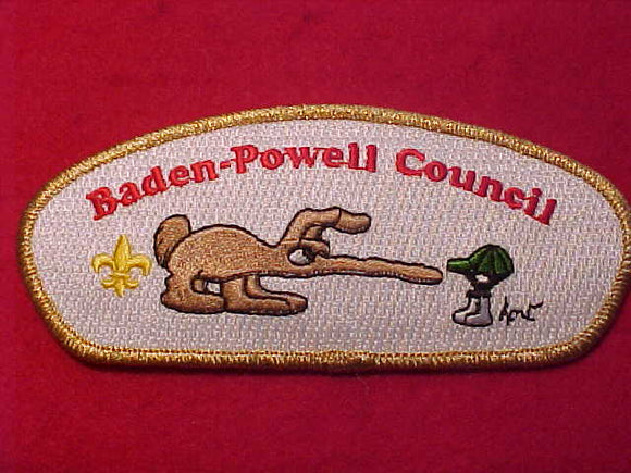BADEN-POWELL C. SA-24, WHITE TWILL, GMY BDR.