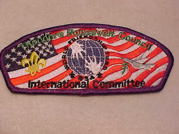 THEODORE ROOSEVELT C. SA-21, INTERNATIONAL COMMITTEE, PURPLE BDR., 200 MADE