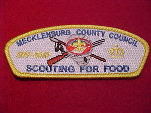 Mecklenburg County sa36, Scouting for food, 1910-2010