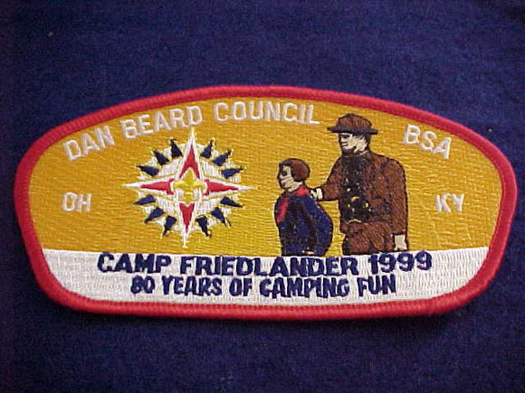 Dan Beard sa15, Camp Friedlander, 1999, 80 years