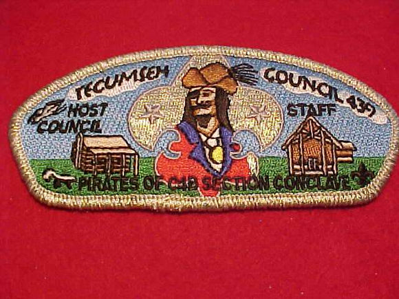 TECUMSEH C. SU-A, PIRATES OF C4B SECTION CONCLAVE, HOST COUNCIL, STAFF, SMY BDR.