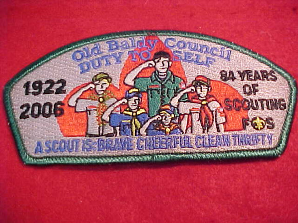 OLD BALDY C. SA-53, 1922-2006, 84 YEARS OF SCOUTING