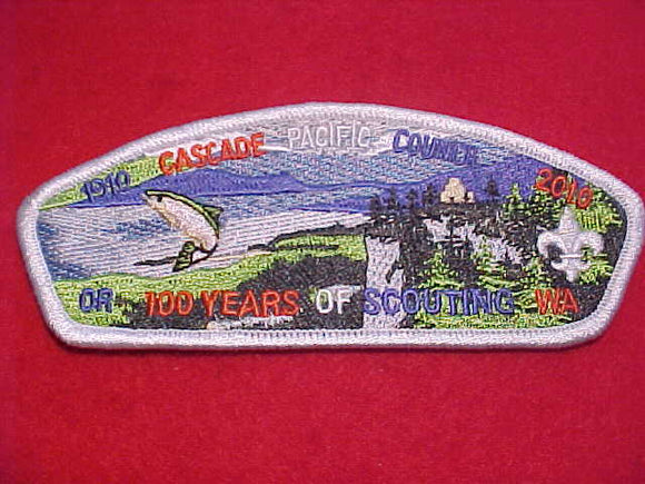 CASCADE PACIFIC C. SA104, 100 YEARS, 1910-2010, OR - WA, WHITE BDR.