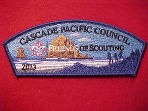 Cascade Pacific sa132, 2013, Friends of Scouting