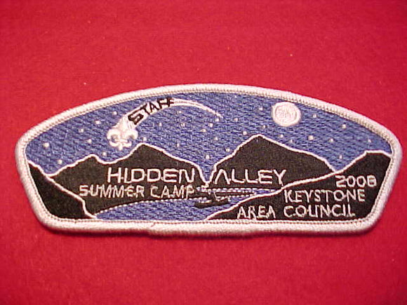 Keystone Area, Hidden Valley Summer Camp, 2008, Staff
