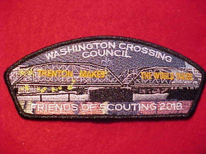 "WASHINGTON CROSSING C. SA-?, 2018 FOS, ""TRENTON MAKES - THE WORLD TAKES"""