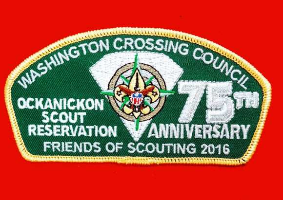WASHINGTON CROSSING C. TA-?, OCKANICKON SCOUT RESV., 75TH ANNIV., 2016
