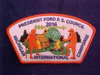 2016 MICHIGAN INTERNATIONAL CAMPOREE, 781 PRESIDENT FORD F.S. COUNCIL, SA