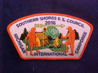 2016 MICHIGAN INTERNATIONAL CAMPOREE, 783 SOUTHERN SHORES F.S. COUNCIL, SA
