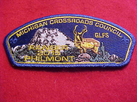 GREAT LAKES FSC SA-55, MICHIGAN CROSSROADS C., RANGER, 2015 PHILMONT, BLUE MYL BDR.