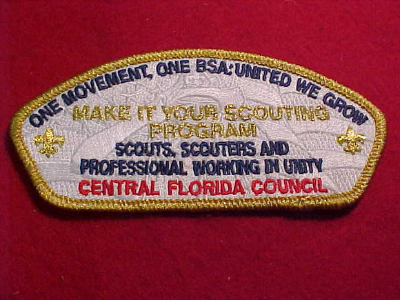 CENTRAL FLORIDA SA-171.3, SCOUTS, SCOUTERS AND PROFESSIONAL WORKING IN UNITY