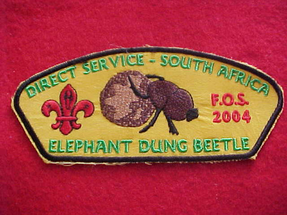Direct Service, South Africa ta4, Elephant Dung Beetle, FOS, 2004