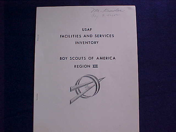 REGION 3 USAF FACILITIES AND SERVICES INVENTORY BOOKLET