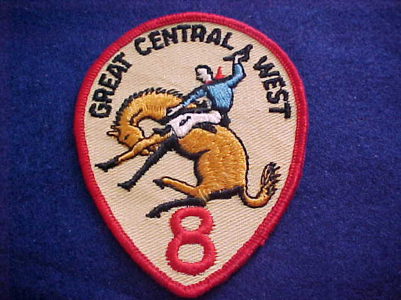 REGION 8 PATCH, GOLD HORSE,