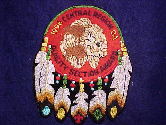 CENTRAL REGION JACKET PATCH, 1996 QUALITY SECTION AWARD