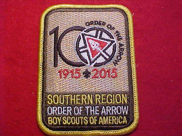 SOUTHERN REGION PATCH SET, 2015 OA, SET OF 9 DIFFERENT