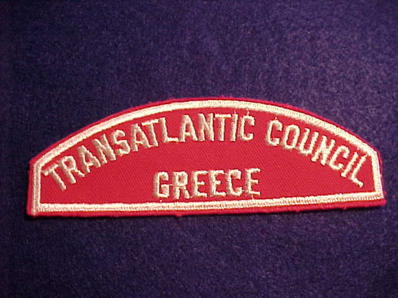 RWS, TRANSATLANTIC COUNCIL/GREECE