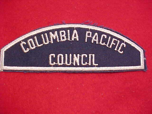 BLUE/WHITE FLAP, COLUMBIA PACIFIC/COUNCIL, SEA SCOUT