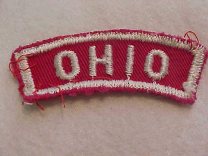 OHIO RED/WHITE STATE STRIP, USED