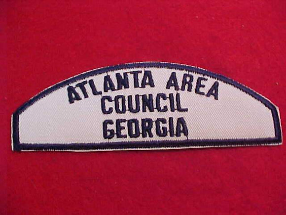 ATLANTA AREA/COUNCIL/GEORGIA, BLUE ON WHITE SEA SCOUT SHOULDER PATCH