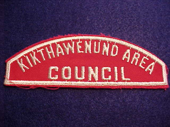 RWS, KIKTHAWENUND AREA/COUNCIL, (112MM/____)
