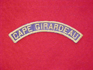 CAPE GIRARDEAU YELLOW/BLUE COMMUNITY STRIP, USED
