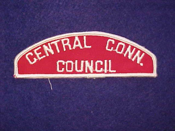 CENTRAL CONN./COUNCIL RED/WHITE STRIP, MINT, ROLLED BORDER