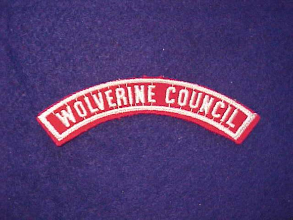 WOLVERINE COUNCIL RED/WHITE HALF STRIP