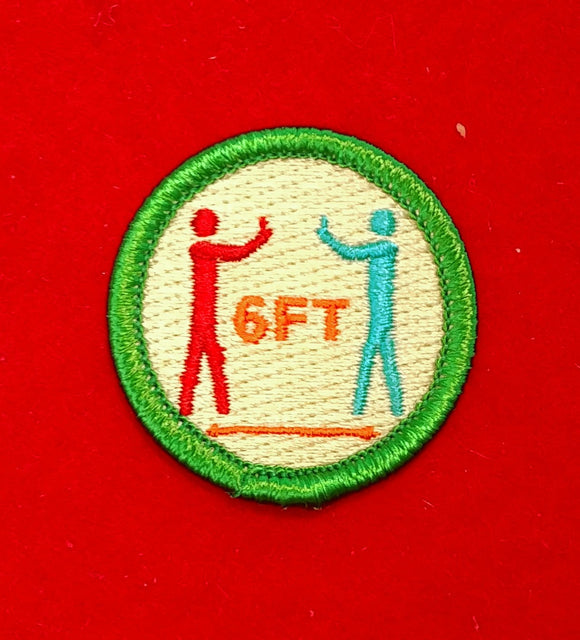 COVID-19 SPOOF MERIT BADGE, SOCIAL DISTANCING