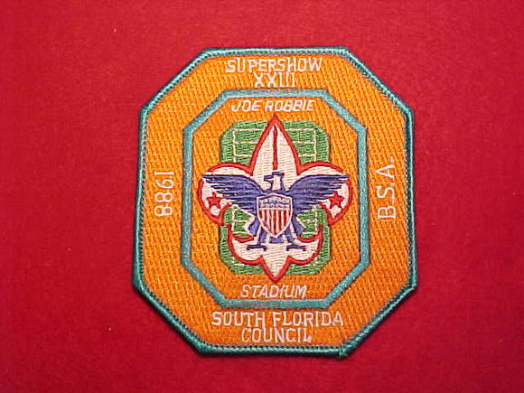 MIAMI DOLPHINS/ MIAMI HURRICANES, SOUTH FLORIDA COUNCIL PATCH, 1988