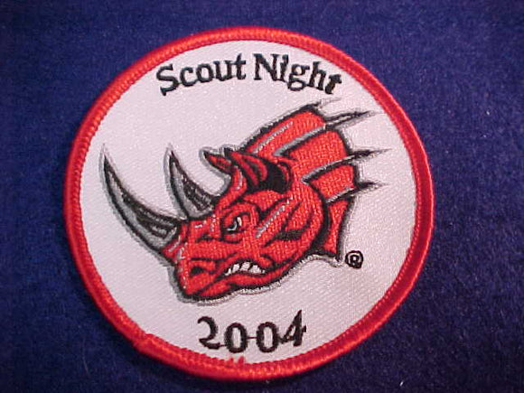 RICHMOND RHINOS PATCH, 2004 FOOTBALL SCOUT NIGHT
