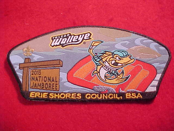 NATIONAL JAMBOREE SHOULDER PATCH, 2013, ERIE SHORES C., TOLEDO WALLEYE HOCKEY, WOVEN