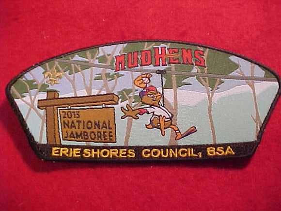NATIONAL JAMBOREE SHOULDER PATCH, 2013, ERIE SHORES C., TOLEDO MUDHENS BASEBALL, WOVEN