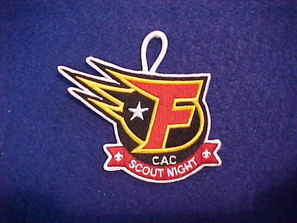 INDY FUEL SCOUT NIGHT PATCH, CROSSROADS OF AMERICA COUNCIL