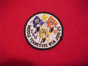 "TENNESSEE STATE UNIVERSITY/UNIVERSITY OF TENNESSEE PATCH, MIDDLE TENNESSEE COUNCIL, ""JOIN US"""
