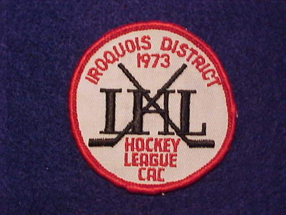 1973 IHL HOCKEY LEAGUE PATCH, IROQUOIS DISTRICT
