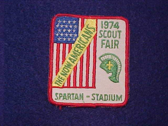 1974 SPARTAN STADIUM SCOUT FAIR PATCH, MICHIGAN STATE UNIVERSITY